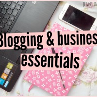 My blogging & business essentials